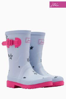 Joules Sky Blue Star Printed Welly