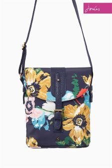 Joules Navy Tourer Printed Cross Body Bag