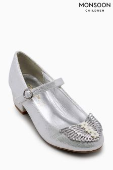 Monsoon Silver Sparkle Butterfly Wing Charleston
