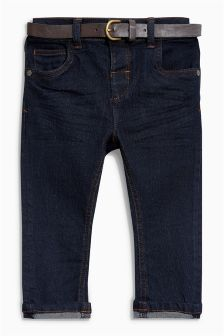 Belted Stretch Jeans (3mths-6yrs)
