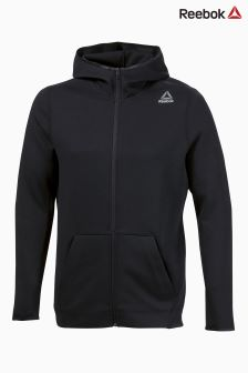Reebok Black Quik Cotton Full Zip Hoody
