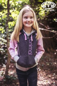 Animal Sabella Black And Purple Full Zip Hoody