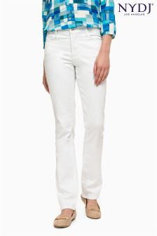 NYDJ White Straight Leg Jean Regular Length