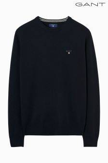 Gant Blue Super Fine Lambswool Crew Jumper