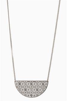 Laser Cut Jewelled Necklace
