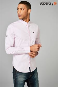 Superdry Pin Point Vintage Long Sleeve Oxford Shirt
