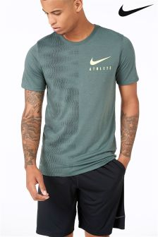 Nike Gym Vintage Green/Volt Athlete Print T-Shirt
