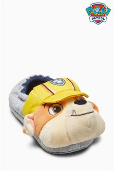 3D Rubble Paw Patrol Slippers (Younger Boys)