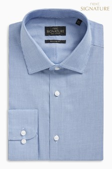 Signature Textured Regular Fit Double Cuff Shirt