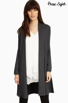 Phase Eight Charcoal Marl Smart Abree Knit Cardigan