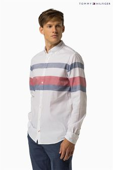 Tommy Hilfiger White/Multi Stripe Oxford Stripe Shirt