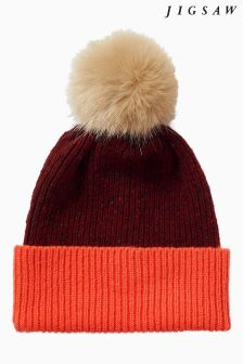 Jigsaw Red Iona Block Donegal Pom Hat