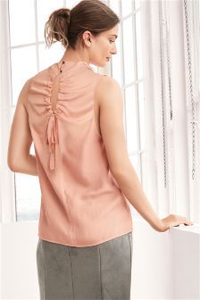 Sleeveless Tie Back Detail Top