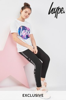 Hype Black Side Print Legging
