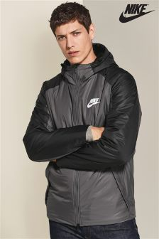 Nike Sportswear Dark Grey/Black Fleece Lined Jacket