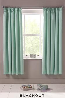 Plain Dye Blackout Pencil Pleat Curtains