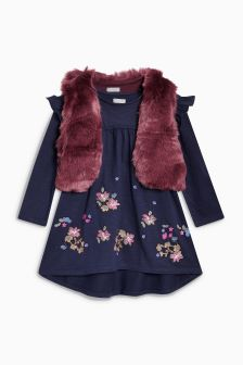 Faux Fur Gilet And Tunic Set (3-16yrs)