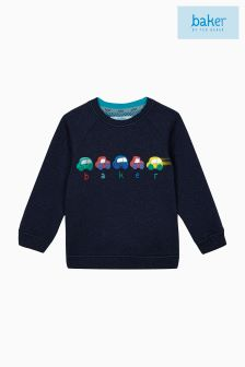 Baker By Ted Baker Blue Graphic Cars Jumper