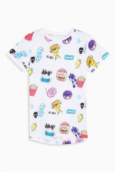 All Over Food Print T-Shirt (3-16yrs)