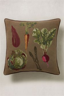 Embroidered Vegetable Cushion
