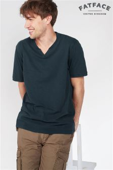 Fat Face Dark Ink Organic Slub Notch Henley