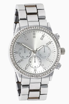 Oversize Sparkle Boyfriend Watch