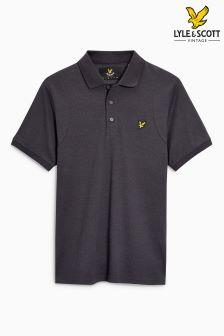 Lyle & Scott Navy Mouline Poloshirt