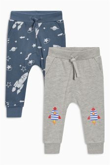 Rocket Knee Joggers Two Pack (3mths-6yrs)
