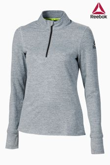 Reebok Grey Running Speedwick Quarter Zip