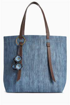 Flower Charm Shopper Bag