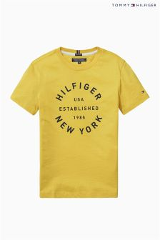 Tommy Hilfiger Yellow Ame Big Logo T-Shirt