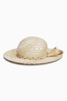 Tassel Straw Hat (Older Girls)