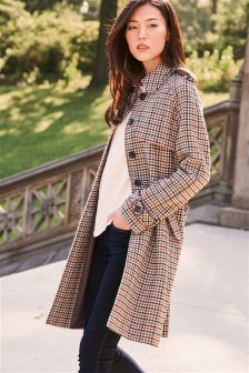 Heritage Check Coat