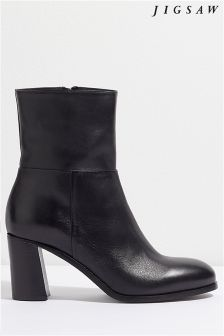 Jigsaw Black Andersen Block Heel Boot