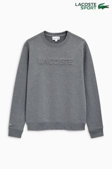 Lacoste® Grey Embossed Logo Sweater