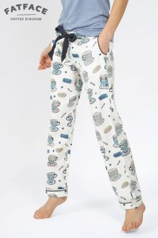 Fat Face Ivory Tea Cups Classic Pant
