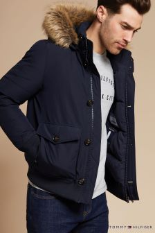 Tommy Hilfiger Blue Hampton Down Bomber Jacket