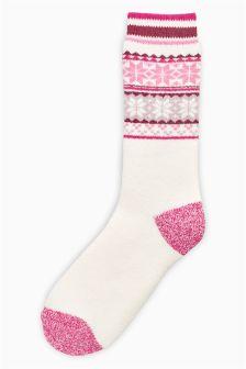 Heat Holders Fairisle Pattern Walking Socks One Pack