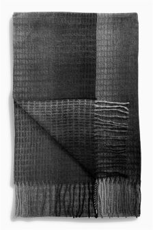 Grid Check Oversize Scarf