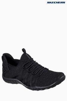 Skechers® Black High Apex Bungee Slip On Air Cooled Memory Foam