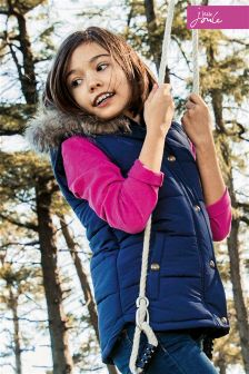 Joules Navy Hooded Gilet