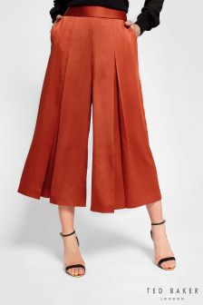 Ted Baker Red Elsbeta Pleat Culottes