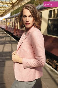 Joules Pink Tweed Horatia Jacket