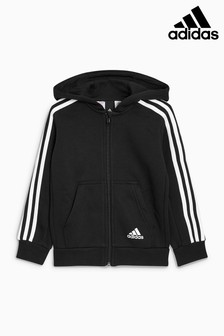 adidas 3-Stripe Zip Through Hoody