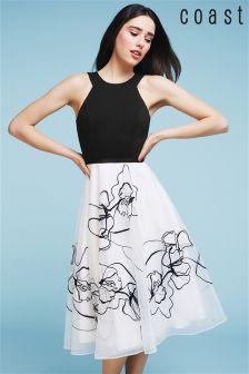 Coast Multi Luna Artwork Dress
