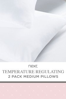 Set of 2 Temperature Regulating Medium Pillows
