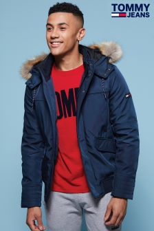 Tommy Hilfiger Denim Blue Technical Bomber Jacket
