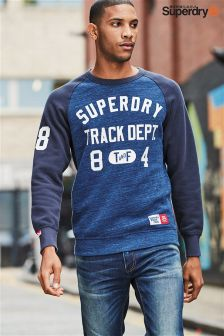 Superdry Navy Logo Crew Neck Jumper