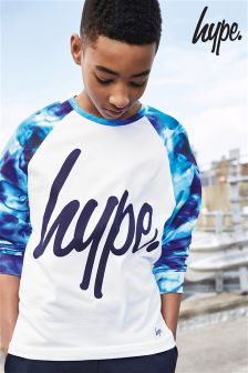 Hype Cyan Drops Printed Raglan Long Sleeved T-Shirt