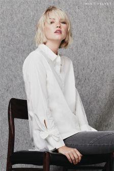 Mint Velvet Bow Cuff Shirt